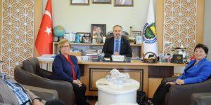 Kadın Muhtarlardan Başkan Aktaş'a Ziyaret