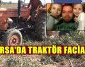 Traktör Üzerine Devrildi