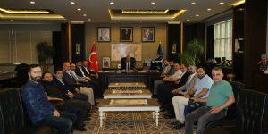 Kafkasspor Yönetiminden Başkan Aktaş'a Ziyaret