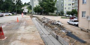 Yeniceköy'de Otopark Ve İstinat Duvarı Çalışması Devam Ediyor