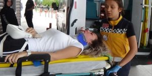 İnegöl'de Bayan Sürücü Panik Yapınca