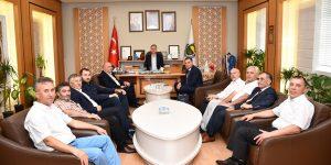 Rustavi Heyeti Başkan Taban'ı Ziyaret Etti