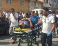 Motosiklet İle Taksi'nin Karıştığı Kaza Ucuz Atlatıldı
