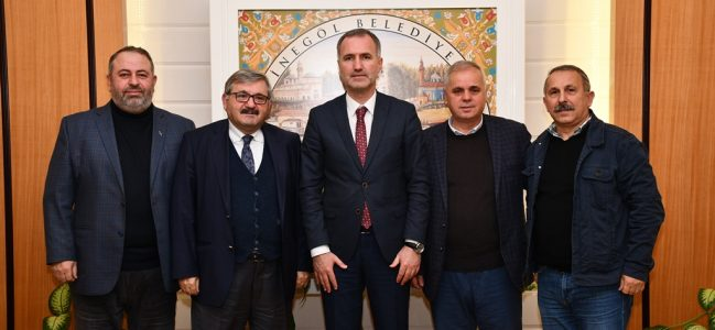 Gazeteciler Cemiyetin'den Başkan Taban Ve Kaymakam Görücü'ye Ziyaret