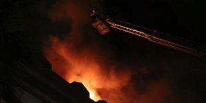 Akhisar'da Korkutan Yangın