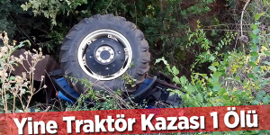 İnegöl'de Traktör Kazası