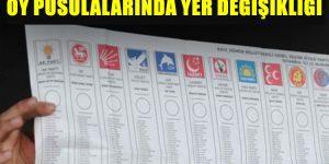 31 Mart oy pusulasında yer değişikliği