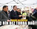 İnegöl Belediyesi Vatandaşlara Bez Torba Dağıttı