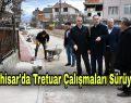 Akhisar'da Tretuar Çalışmaları Sürüyor