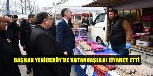 Başkan Taban'dan Yeniceköy'lü Vatandaşlara Ziyaret
