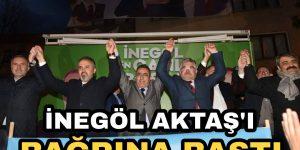 Alinur Aktaş'a İnegöl'de Sevgi Seli
