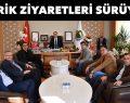 Başkan Taban'a tebrik ziyaretleri sürüyor