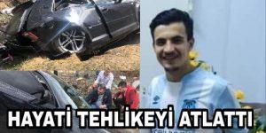 Şarampole Uçan Futbolcu Ağır Yaralandı