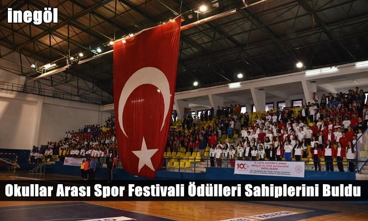 Okullar Arası Spor Festivali Ödülleri Sahiplerini Buldu