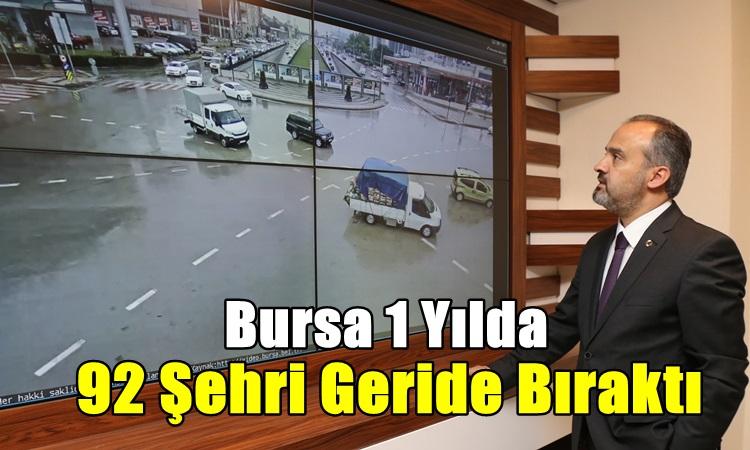 Bursa 1 yılda 92 şehri geride bıraktı