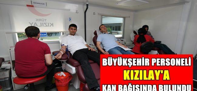 Büyükşehir Personeli Kızılay'a Kan Verdi