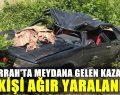 Cerrah'ta Takla Atan Aracın Sürücüsü Ağır Yaralandı