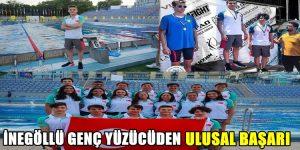 İnegöl'lü Yüzücüden Ulusal Başarı