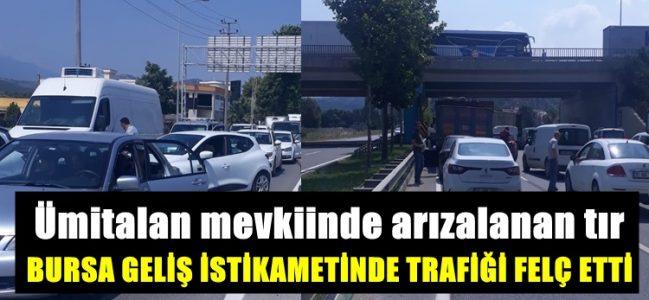 Bursa Geliş Yönünde Trafik Tamamen Kitlendi