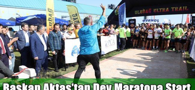 Dev Maratonun Staratını Başakan Aktaş Verdi