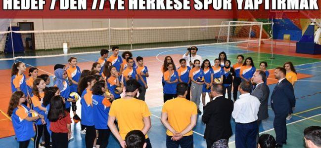 Başkan Taban Yaz Spor Okullarını Ziyaret Etti