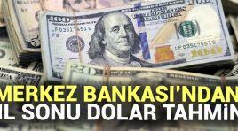 Merkez Bankası Yıl Sonu Dolar tahminini açıkladı !