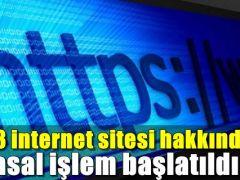 33 İNTERNET SİTESİ HAKKINDA YASAL İŞLEM BAŞLATILDI !